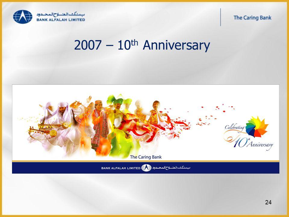 2007 – 10 th Anniversary 24