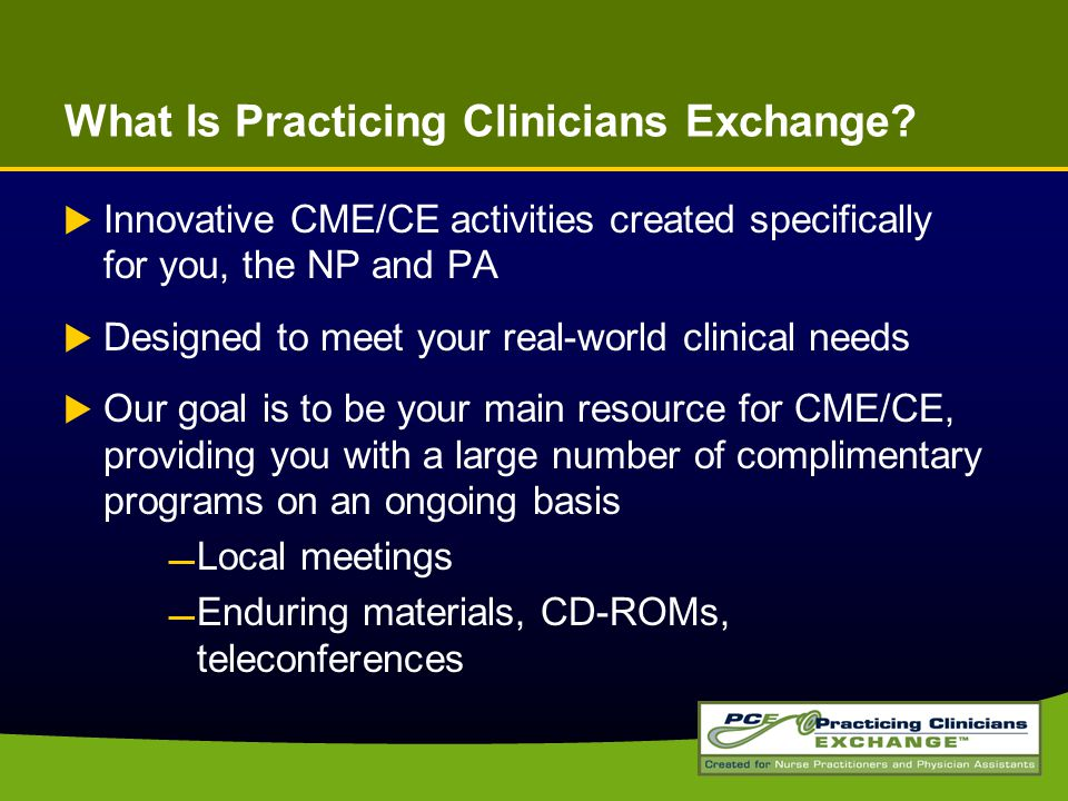 What Is Practicing Clinicians Exchange.