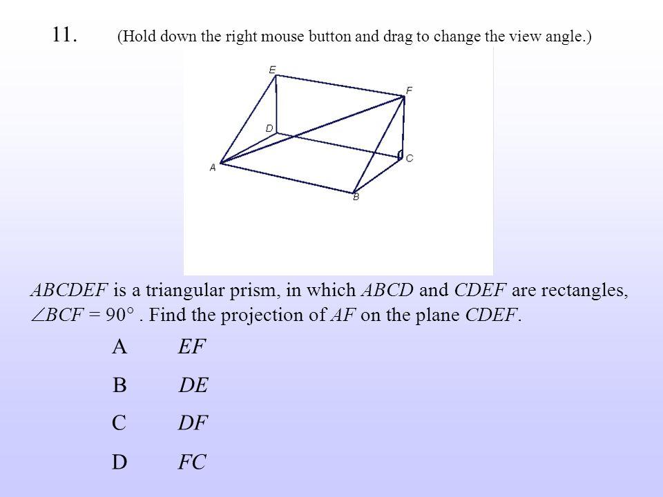 BDE CDF AEF DFC 11.
