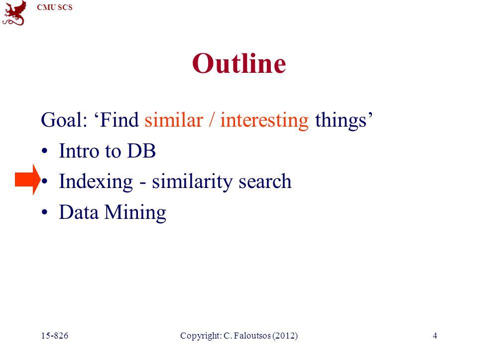 CMU SCS 15-826Copyright: C.Faloutsos (2012)15 Queries Algo for exact match query.