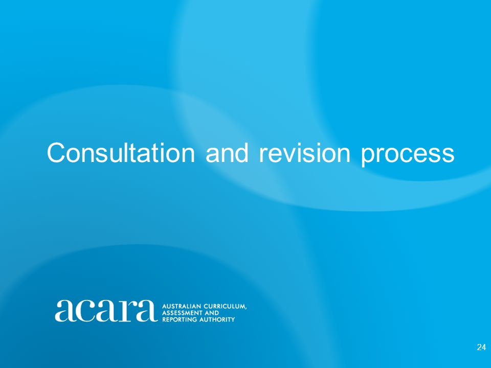 Consultation and revision process 24