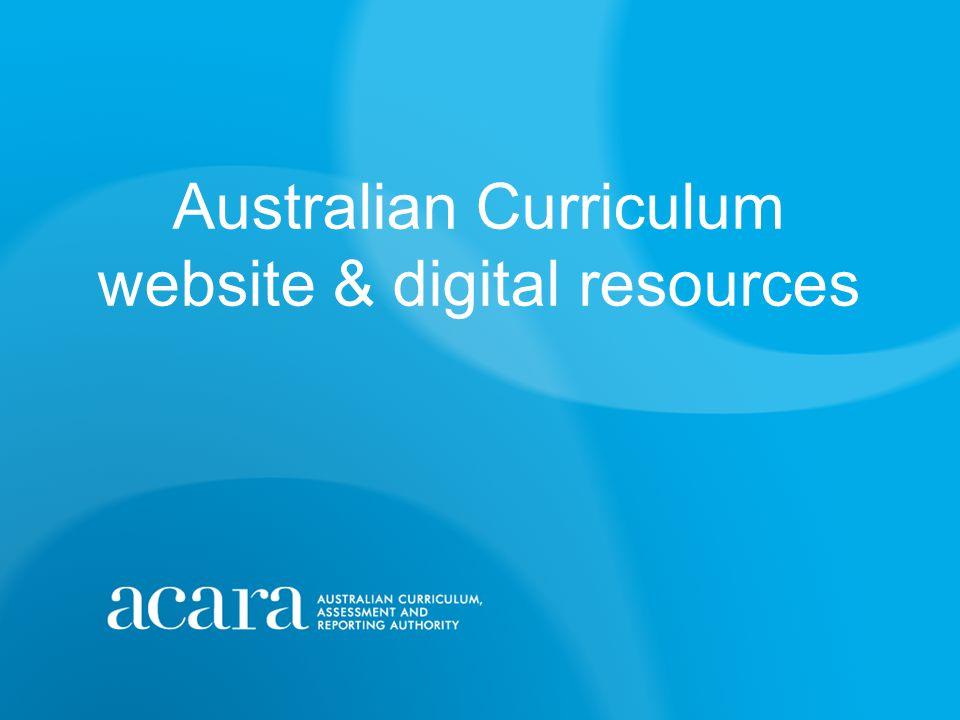 Australian Curriculum website & digital resources