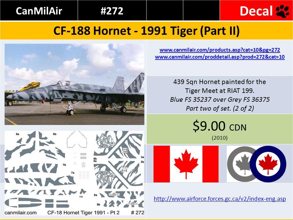 Revell Germany #04036 Kit Tornado ECR Tiger Meet 98 Source: www.flevoaviationhobby.net/images/kitreviews/1-144/rev4036/rev4036.html www.highgallery.com/Tiger-Meet-98.html Decals for one Lechfled Tiger £5 GBP (2010) www.luftwaffe.de/portal/a/luftwaffe http://321tigers.org/tiger_markings/321_4635.html www.321tigers.de/