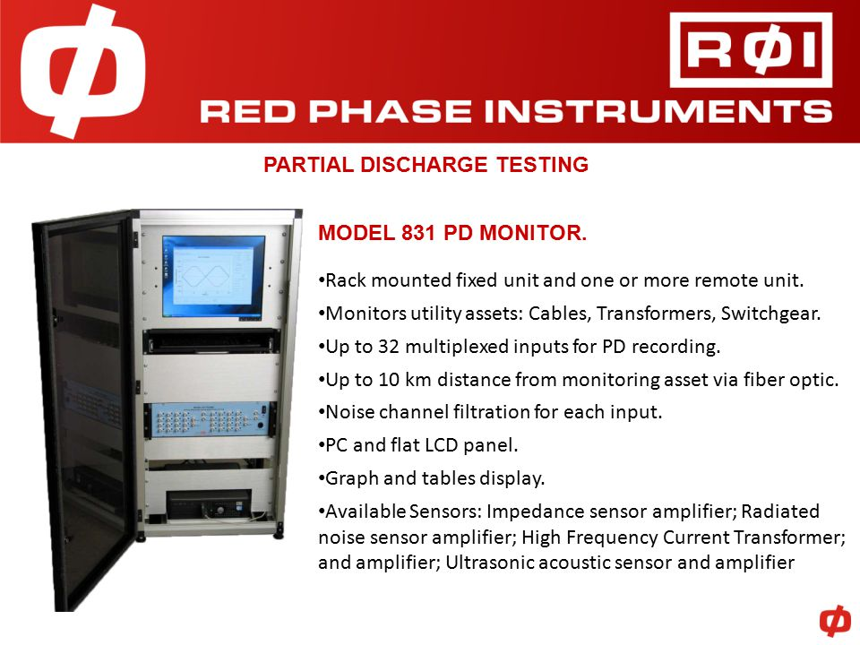 PARTIAL DISCHARGE TESTING MODEL 831 PD MONITOR.