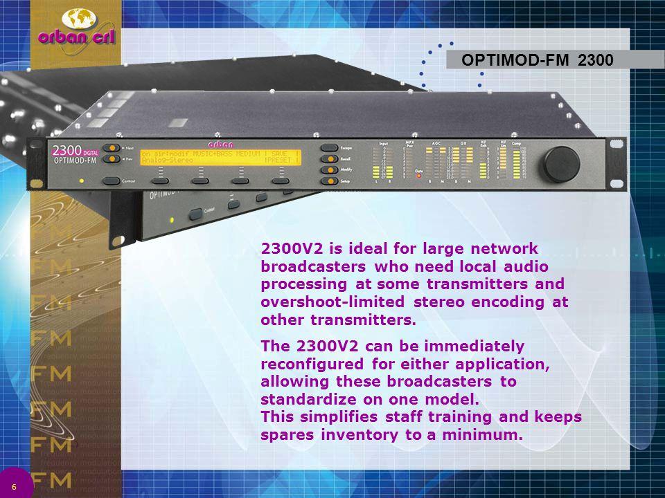OPTIMOD 8500 is Orban s new flagship FM processor.