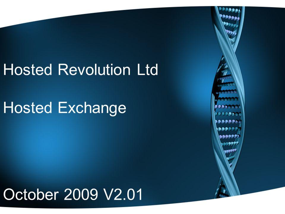 Hosted Revolution Ltd Hosted Exchange October 2009 V2.01