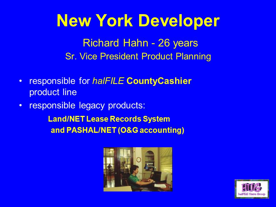 New York Developer Richard Hahn - 26 years Sr.