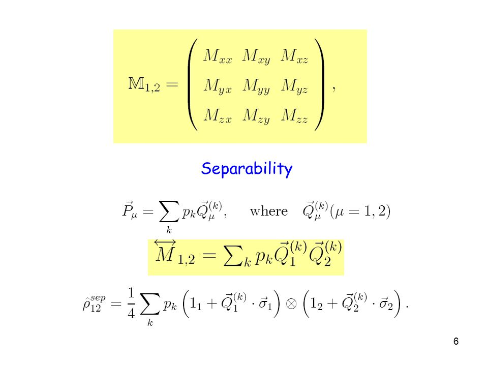 6 Separability