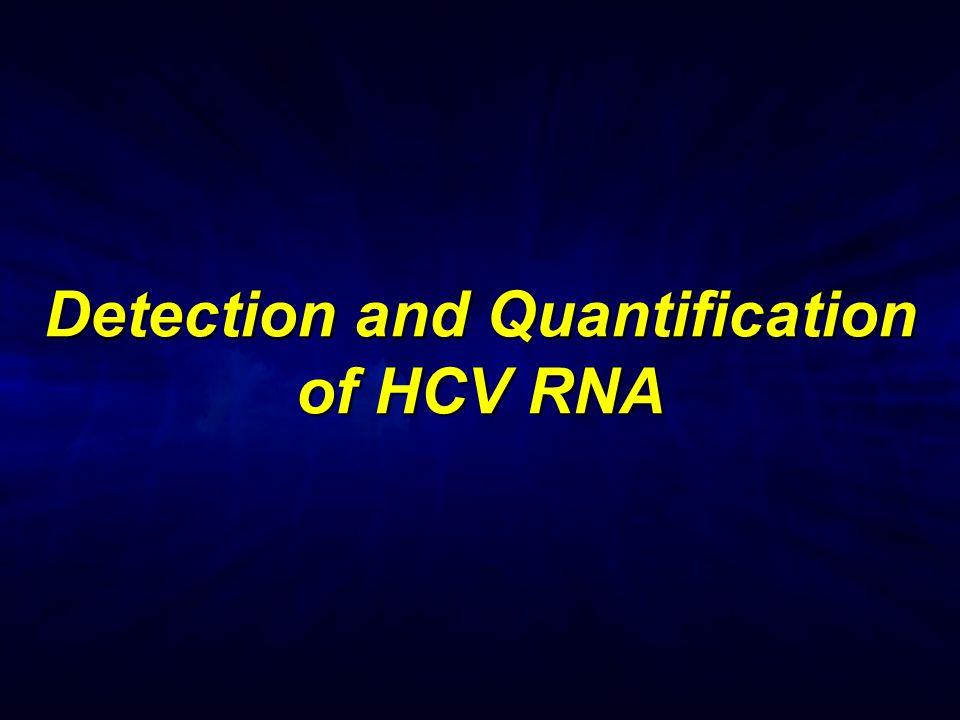 Detection and Quantification of HCV RNA