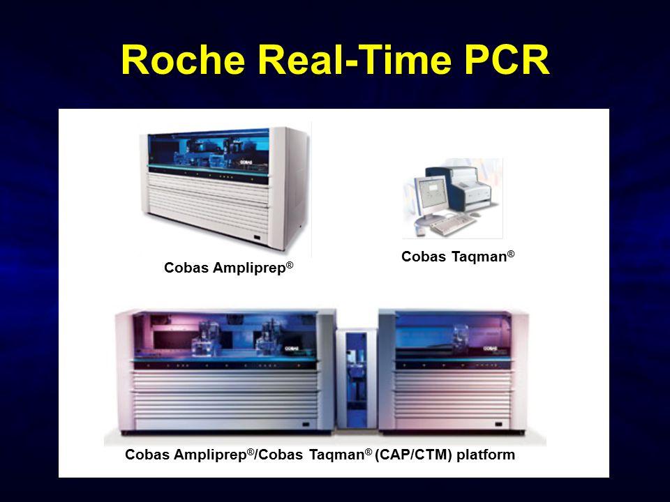 Roche Real-Time PCR Cobas Ampliprep ® Cobas Taqman ® Cobas Ampliprep ® /Cobas Taqman ® (CAP/CTM) platform