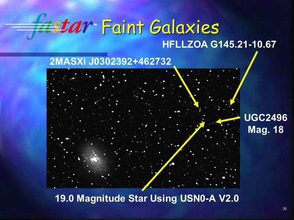 20 Faint Galaxies UGC2496 Mag.