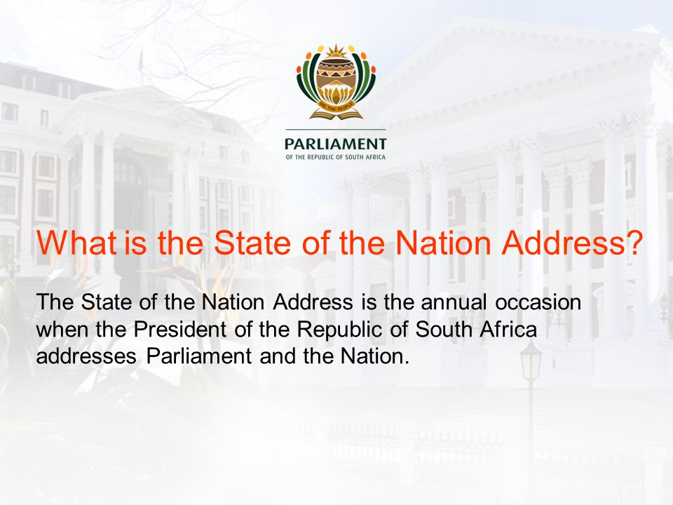 What is the State of the Nation Address.