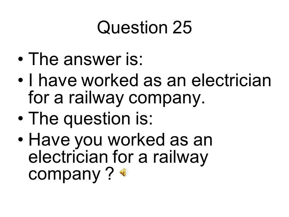 Question 26 The answer is: I currently work for the ministry of justice.