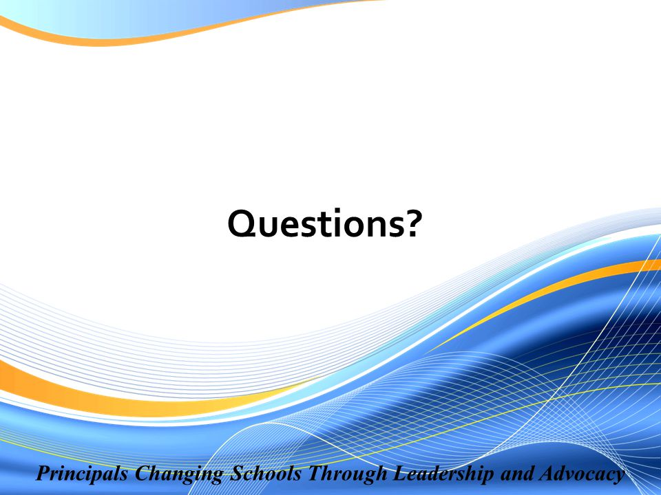 Principals Changing Schools Through Leadership and Advocacy Questions?