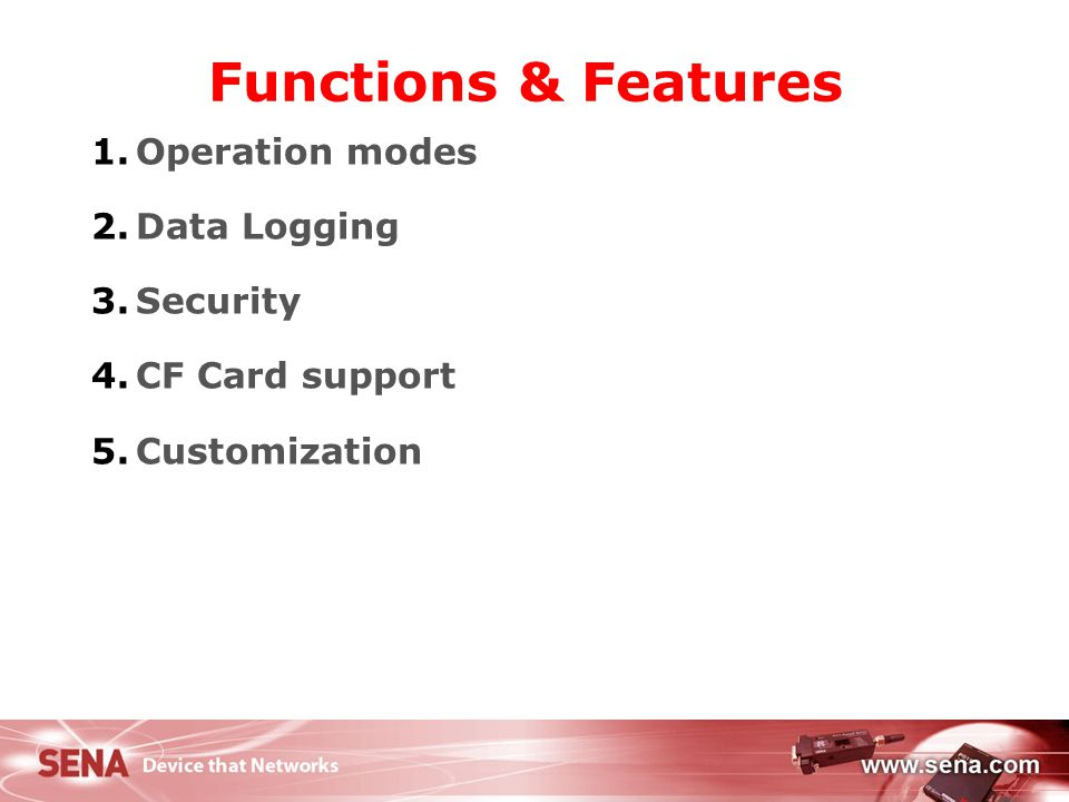 5 Operation modes Provides Bluetooth connections based on either SPP or PAN service Users can set up connection property as either SPP or PAN # of connections available MSP1000A : Up to 7 Bluetooth connections MSP1000B : Up to 14 Bluetooth connections MSP1000C : Up to 28 Bluetooth connections Connection type SPP Connection Works as if it is a Bluetooth-Serial to Ethernet Bridge (Device Server) PAN Connection Works as if it is Bluetooth-Network Access Point
