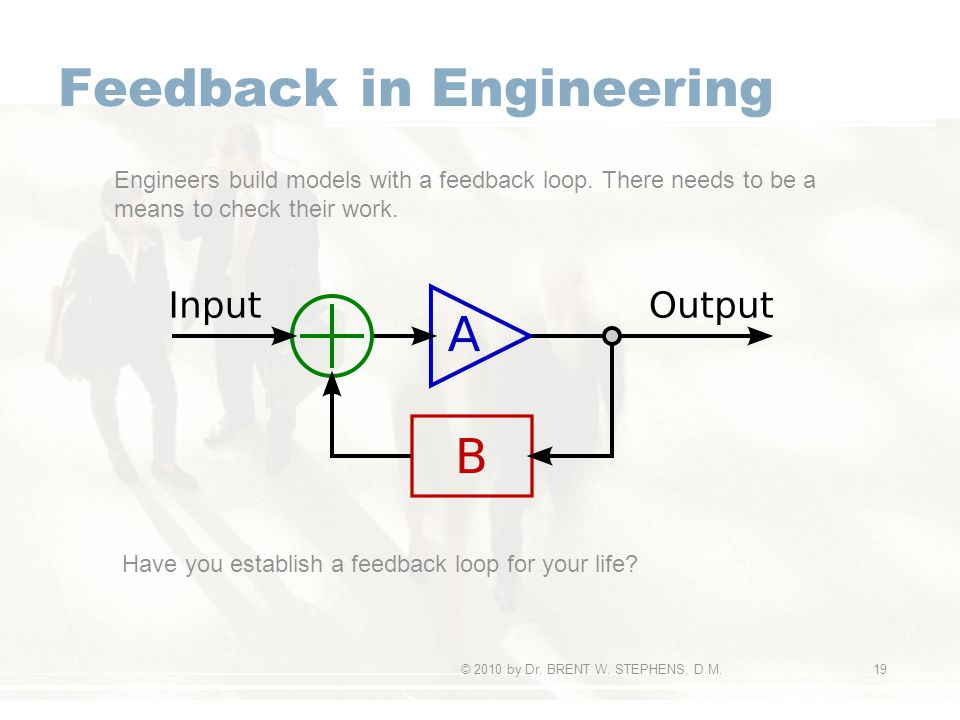 Feedback in Engineering © 2010 by Dr. BRENT W.