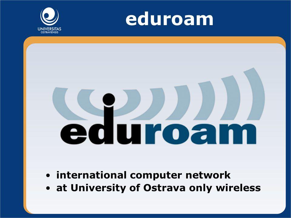 eduroam international computer network at University of Ostrava only wireless