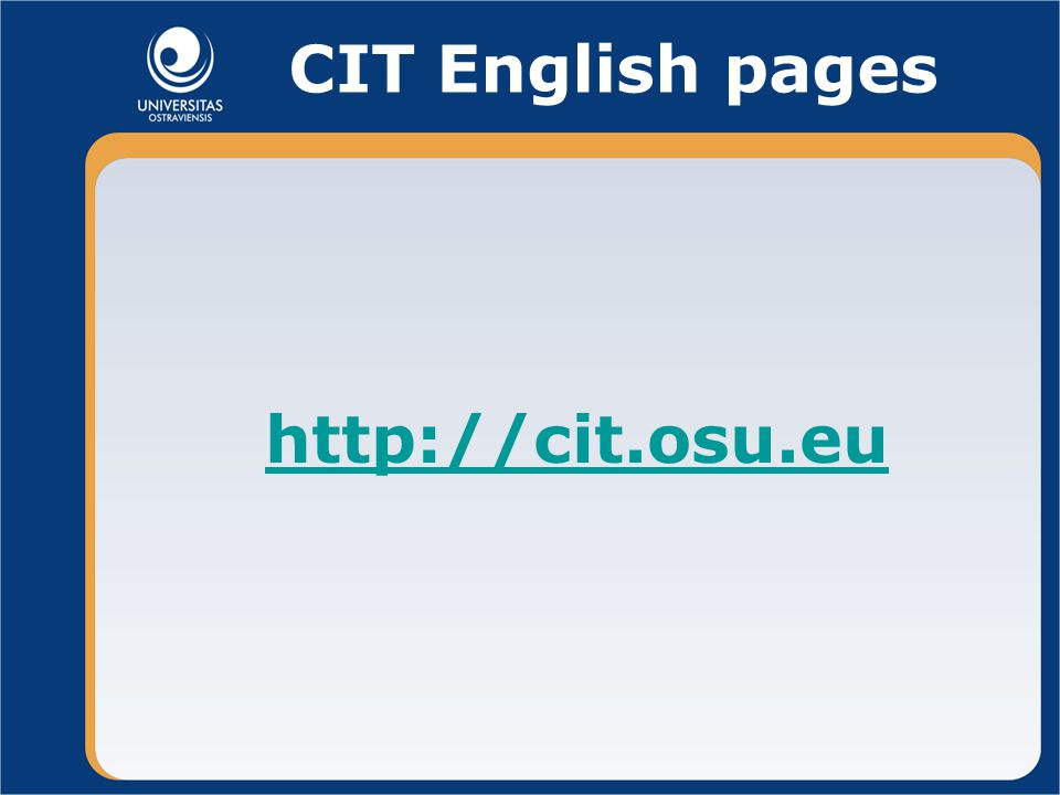 CIT English pages