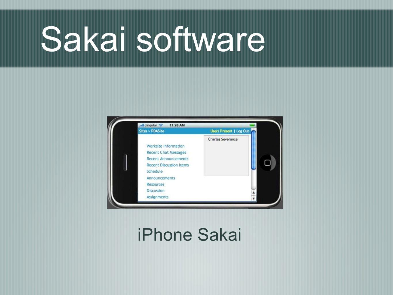 Sakai software iPhone Sakai