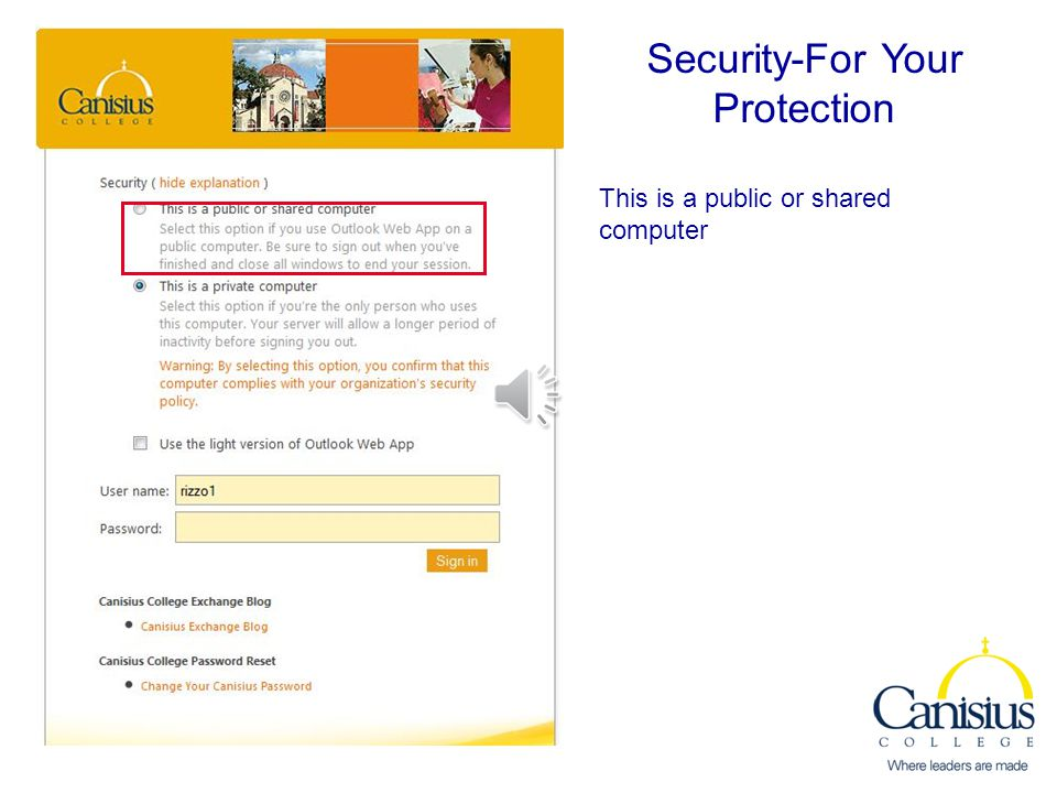 Security-For Your Protection Security Explanations