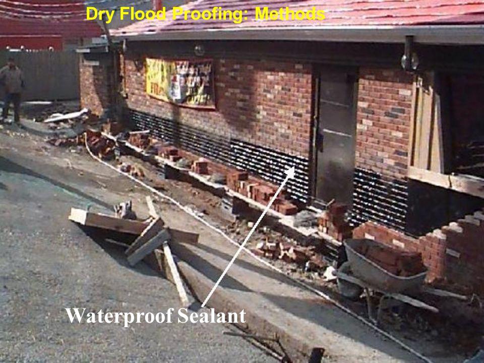 Waterproof Sealant Dry Flood Proofing: Methods