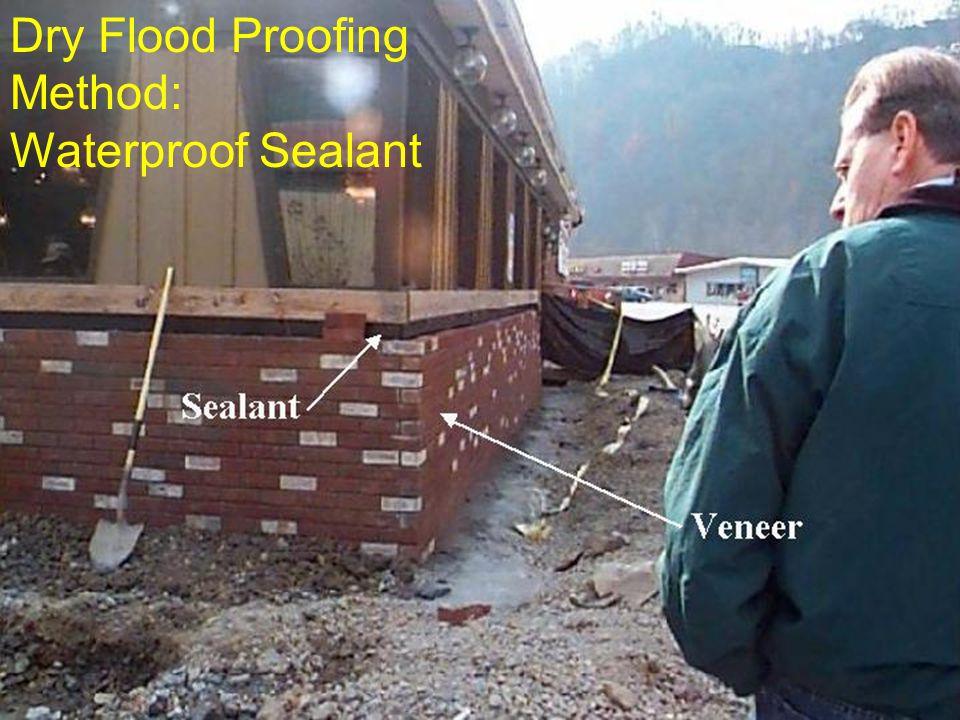 Dry Flood Proofing Method: Waterproof Sealant