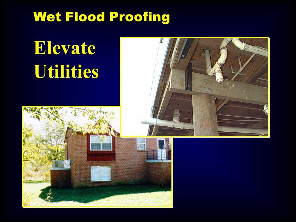 Elevate Utilities Wet Flood Proofing