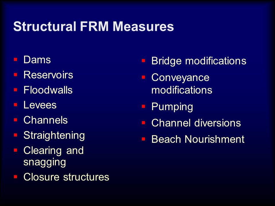 - Detailed evacuation plans and inundation mapping - Stream gages with/without remote sensing - Rain gages with remote sensing Flood Warning & Emergency Evacuation Plans (FWEEP) Nonstructural FDR Solutions FWEEP's are almost always cost effective and relatively inexpensive