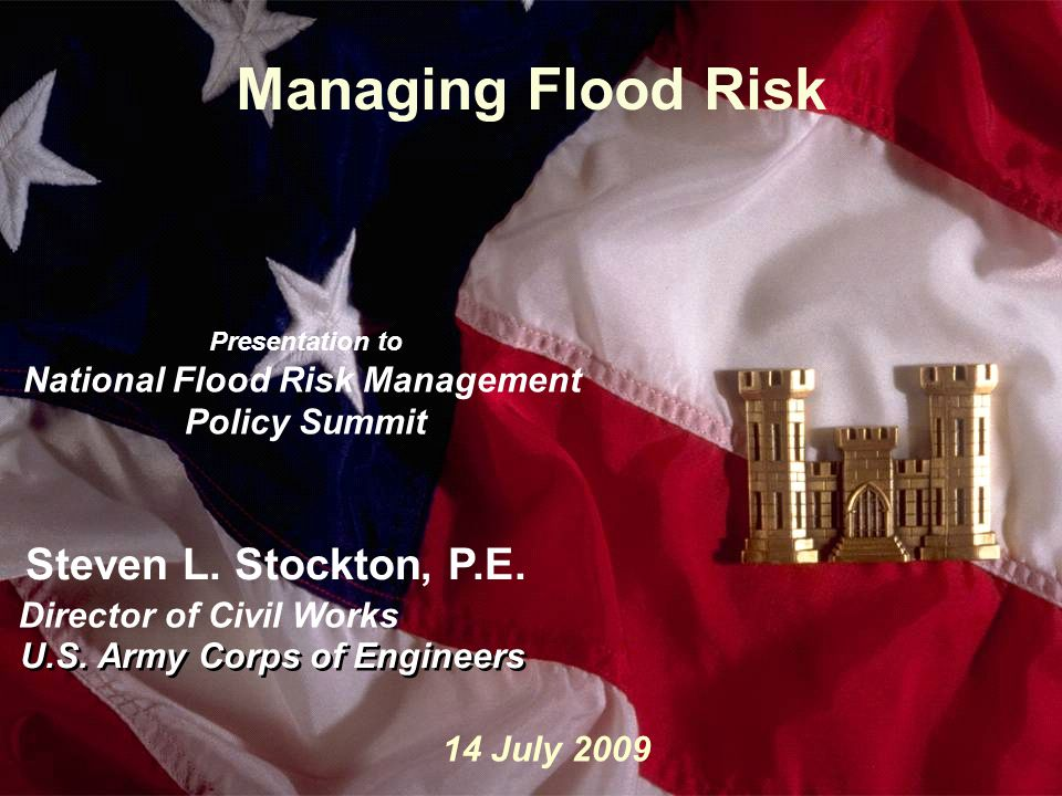 How Katrina Impacted the Corps, and Implications for Those Living Near Water12 Take a Systems Approach: Integrated water management through a watershed approach and integrated life-cycle infrastructure management Build and Sustain Partnerships: Improve intergovernmental, inter-organizational cooperation Use Risk-Informed Decision Making and Communication: Ensure public safety through risk assessment and vigilance of our water infrastructure Pursue Innovative Financing Practice Adaptive Management Use State-of-the-Art Technology: Invest in science, technology, and information management Plan for hiring, training and retaining to maintain a competitive edge So, How Do We Invest in the Future?
