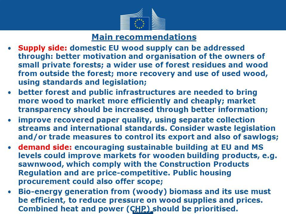 ENTR G3 ENTR F3 DG ENTR study (Indufor Oy.) Forest-based sector: region types