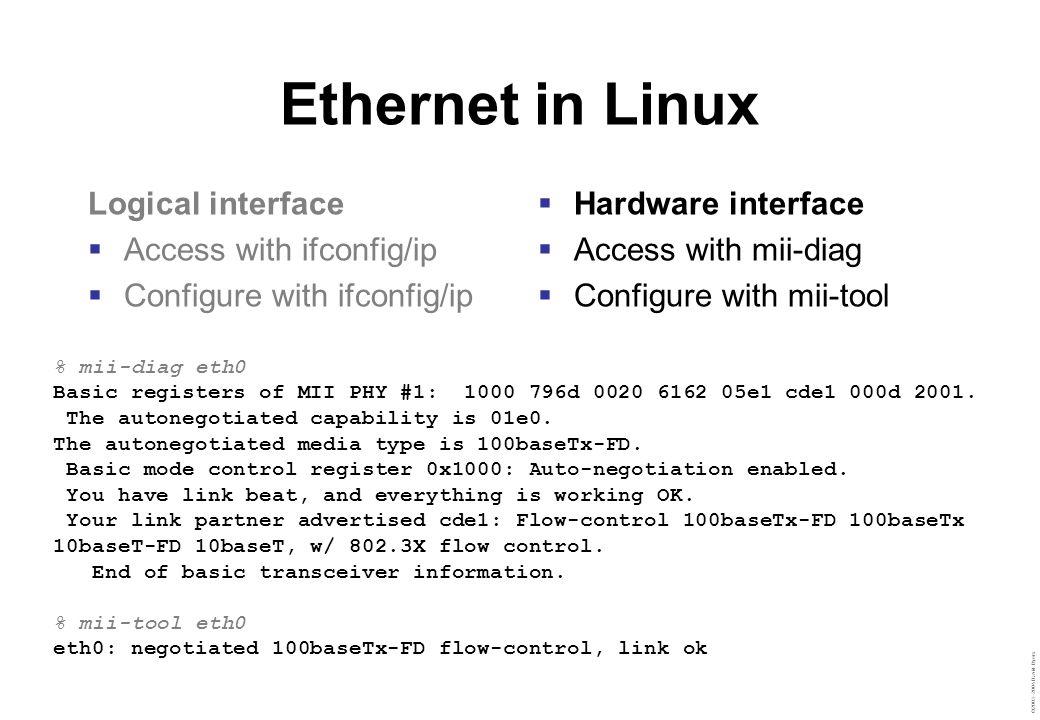 ©2003–2004 David Byers IPv4 addressing IPv4 address  Network address (N bits)  Host address (M bits)  N + M = 32 bits CIDR notation  A.B.C.D/N Broadcast  255.255.255.255 (undirected) Multicast  224.0.0.0/4