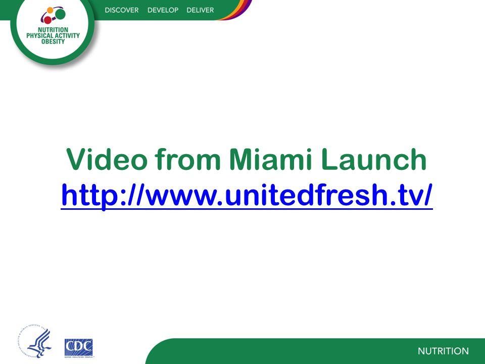 Video from Miami Launch http://www.unitedfresh.tv/ http://www.unitedfresh.tv/