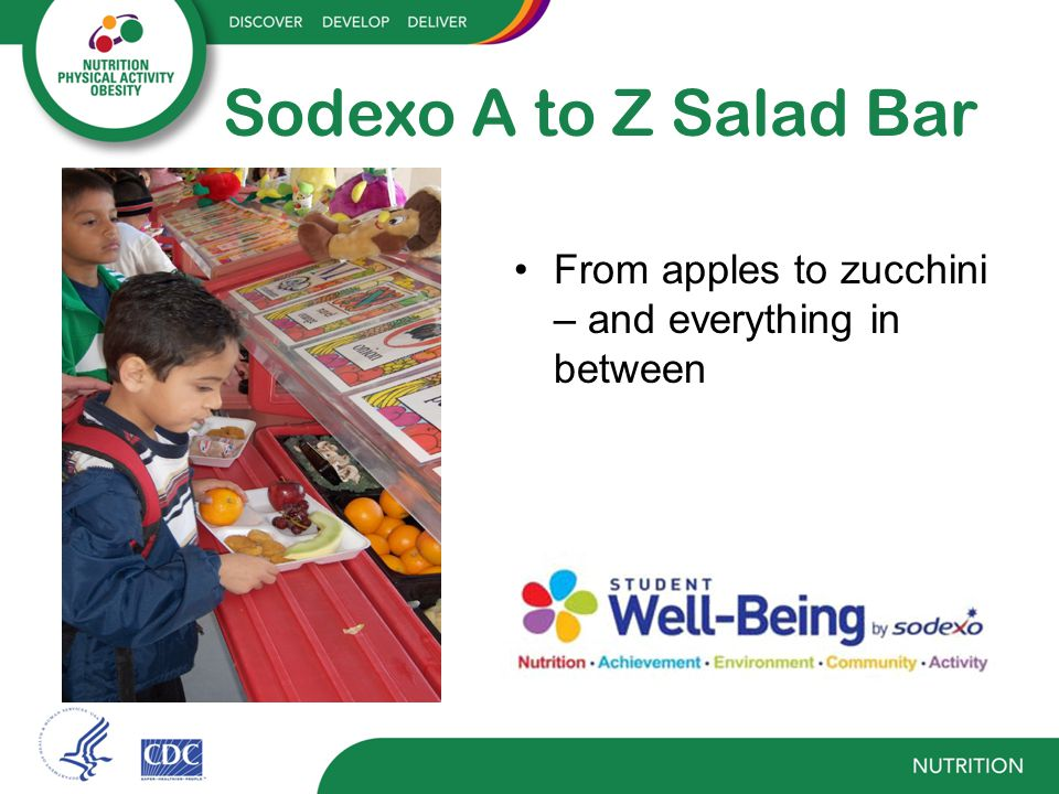 Salad Bar Use Complete reimbursable meal Fruit and vegetable component As part of farm to school program (local produce) vs.
