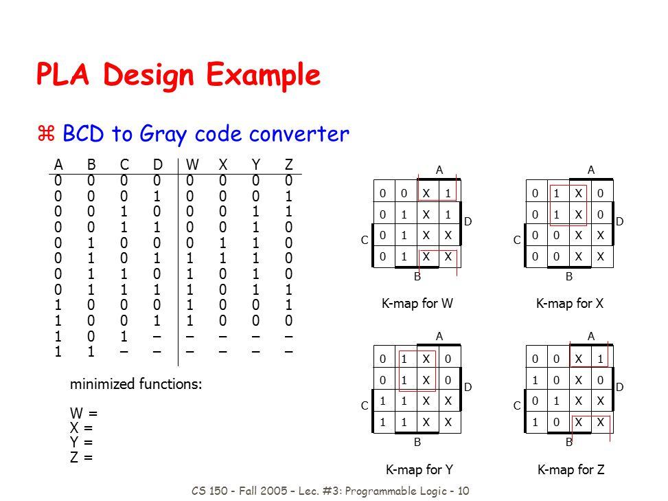 CS 150 - Fall 2005 – Lec.