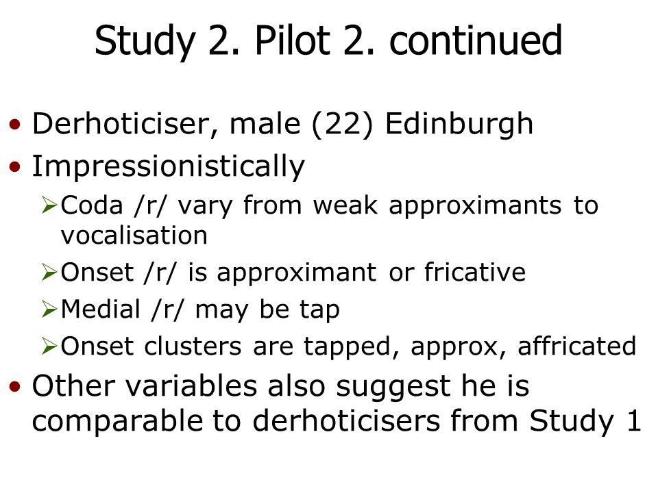 Study 2. Pilot 2.