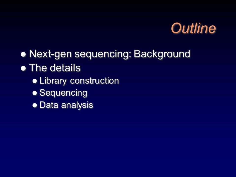 How they work videos Roche/454 http://454.com/products-solutions/multimedia- presentations.asp Illumina (Solexa) Genome Analyzer http://www.youtube.com/watch?v=77r5p8IBwJk Life Technologies SOLiD http://media.invitrogen.com.edgesuite.net/ab/ap plications- technologies/solid/SOLiD_video_final.html Roche/454 http://454.com/products-solutions/multimedia- presentations.asp Illumina (Solexa) Genome Analyzer http://www.youtube.com/watch?v=77r5p8IBwJk Life Technologies SOLiD http://media.invitrogen.com.edgesuite.net/ab/ap plications- technologies/solid/SOLiD_video_final.html