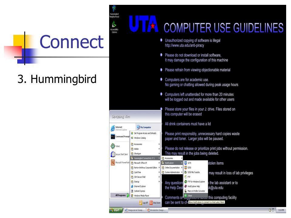 Connect 3. Hummingbird