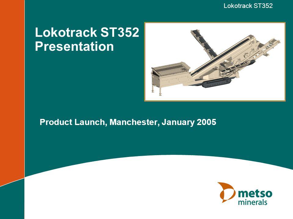 © Metso Minerals, Inc.Lokotrack ST352 1. Engine rotation speed 2.