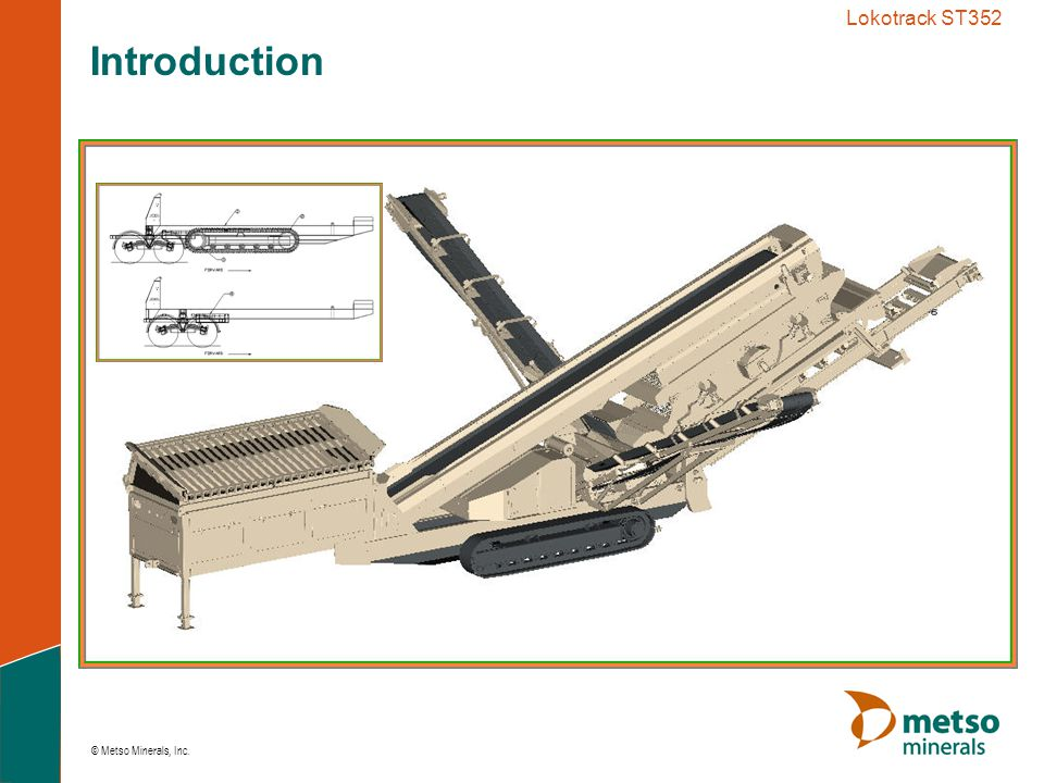 © Metso Minerals, Inc. Lokotrack ST352 Introduction