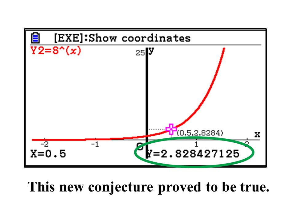 This new conjecture proved to be true.