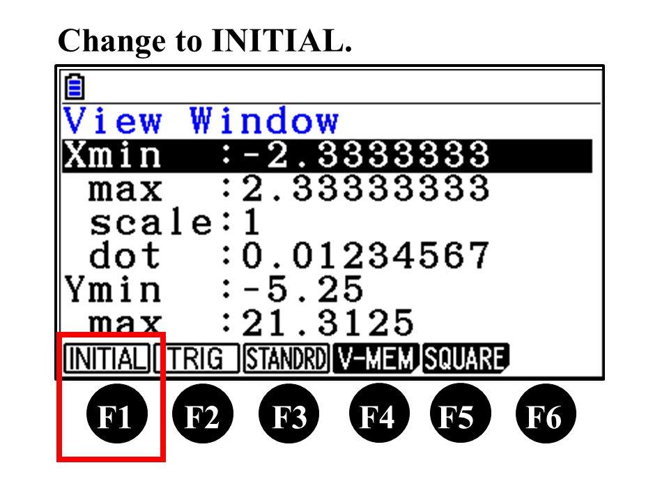 Change to INITIAL. X,θ,T F1 F2 F3 F4 F5 F6