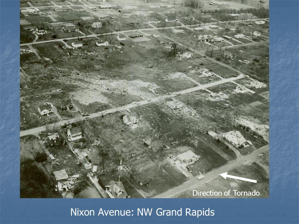 Nixon Avenue: NW Grand Rapids Direction of Tornado