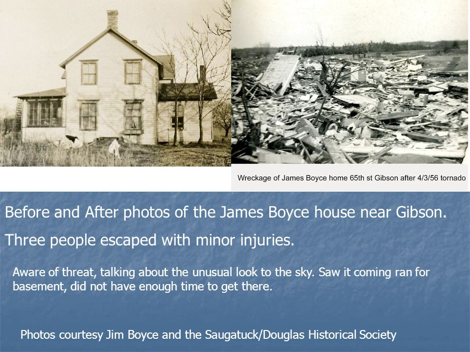 Before and After photos of the James Boyce house near Gibson.