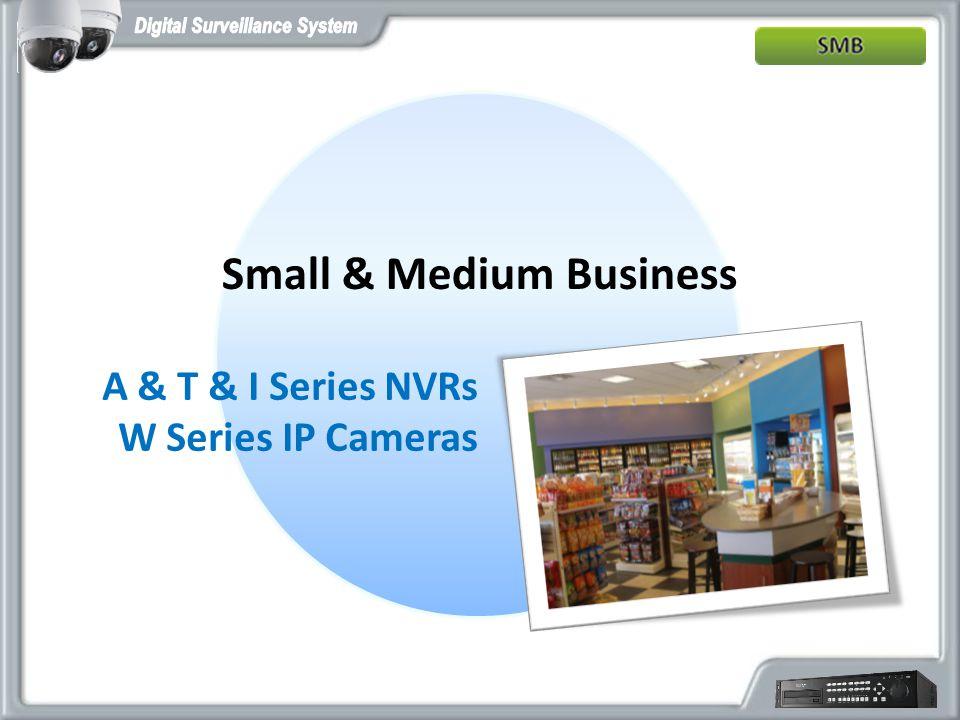 Small & Medium Business A & T & I Series NVRs W Series IP Cameras