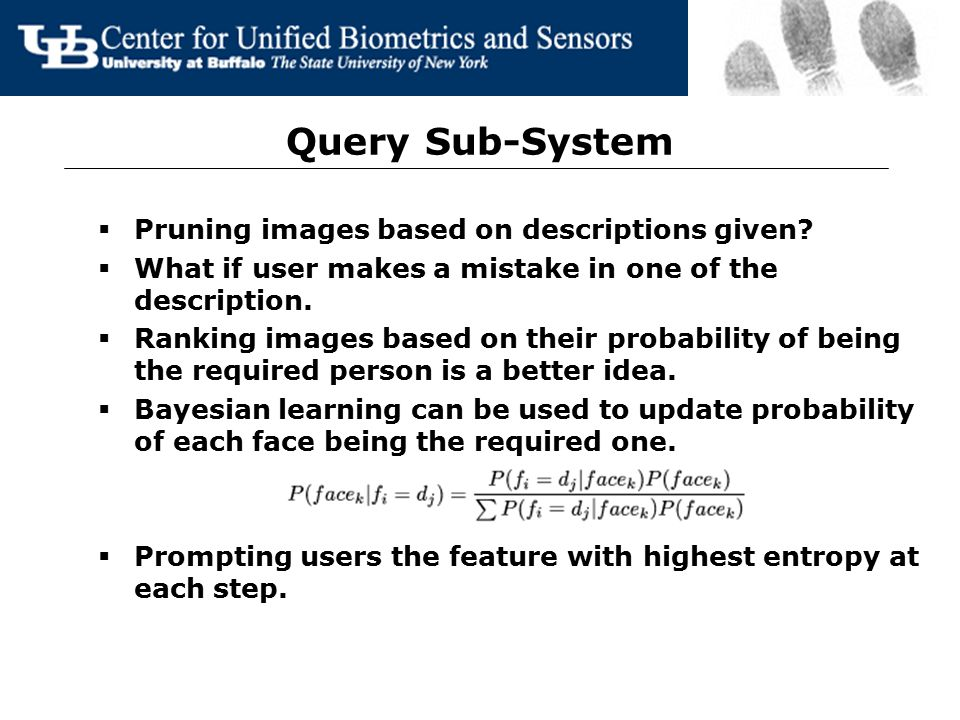 Enrollment Sub-System  Face Detection.  Lips and eye detection.