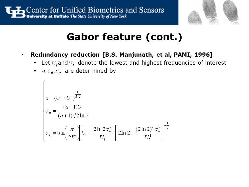 Gabor feature  Gabor filter and Gabor wavelet [B.S.