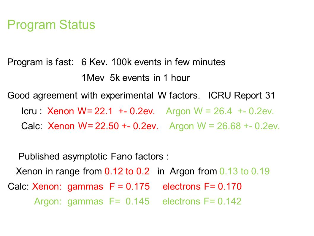 Program Status Program is fast: 6 Kev.
