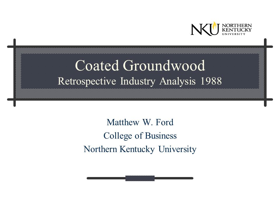 Coated Groundwood Retrospective Industry Analysis 1988 Matthew W.