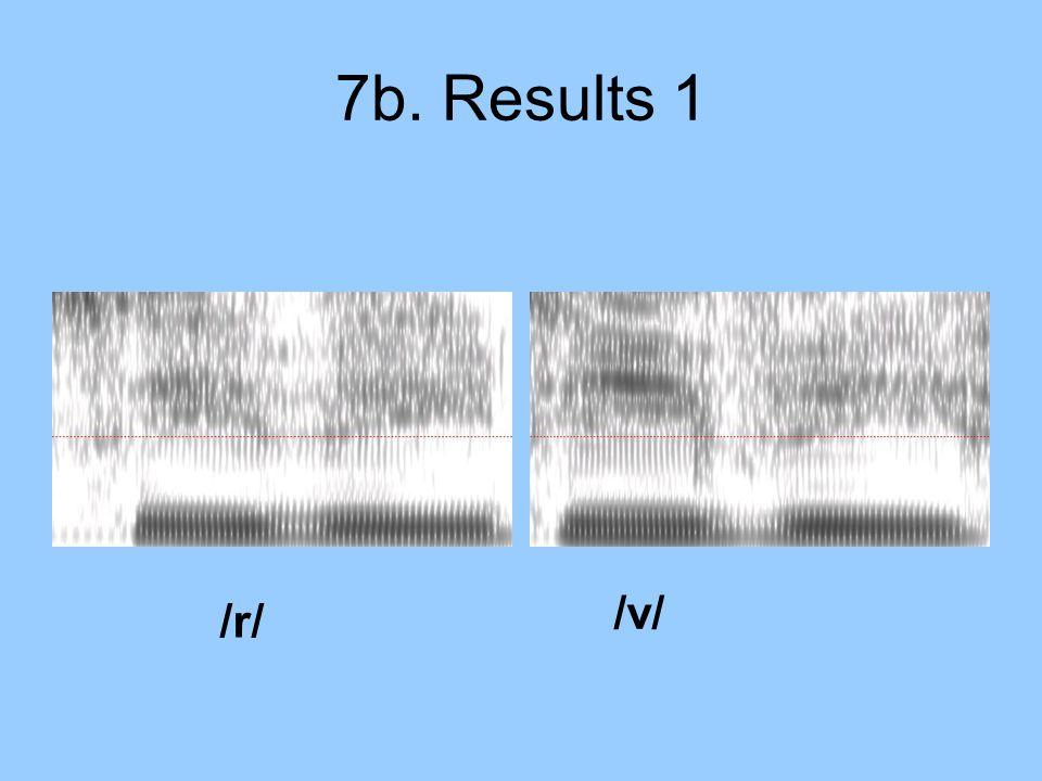 7b. Results 1 /r/ /v/