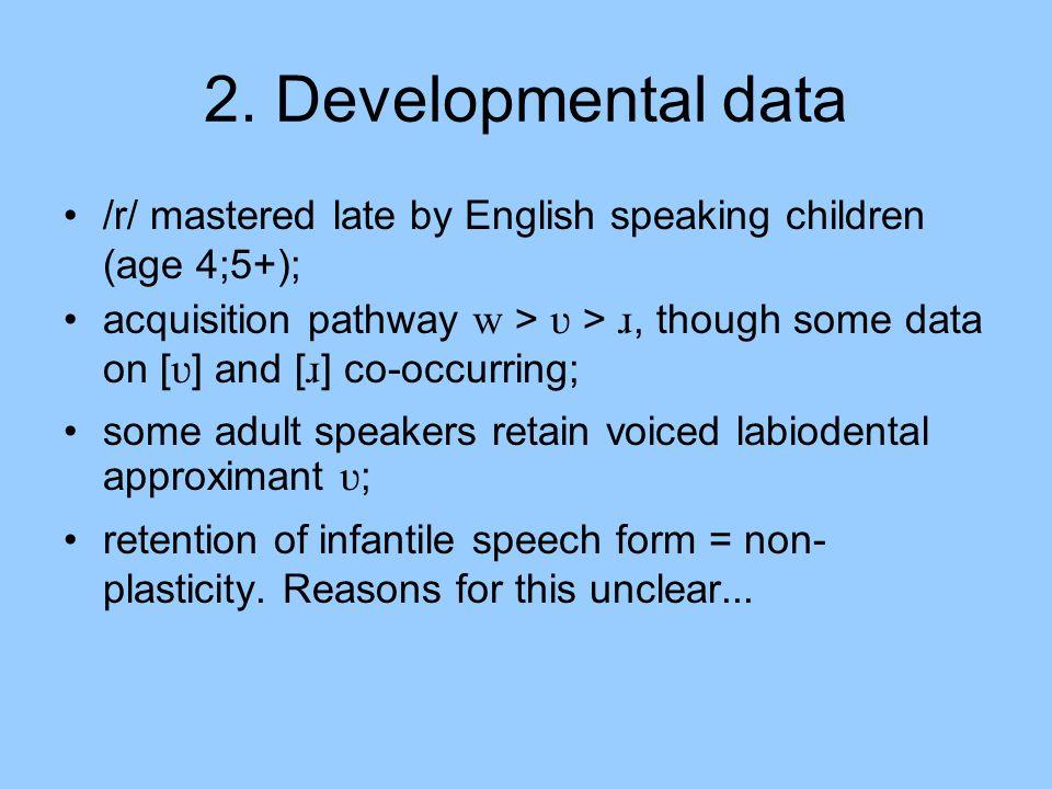 3.Why labiodental /r/.
